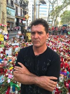 Homenaje en la Ramblas tras el atentado